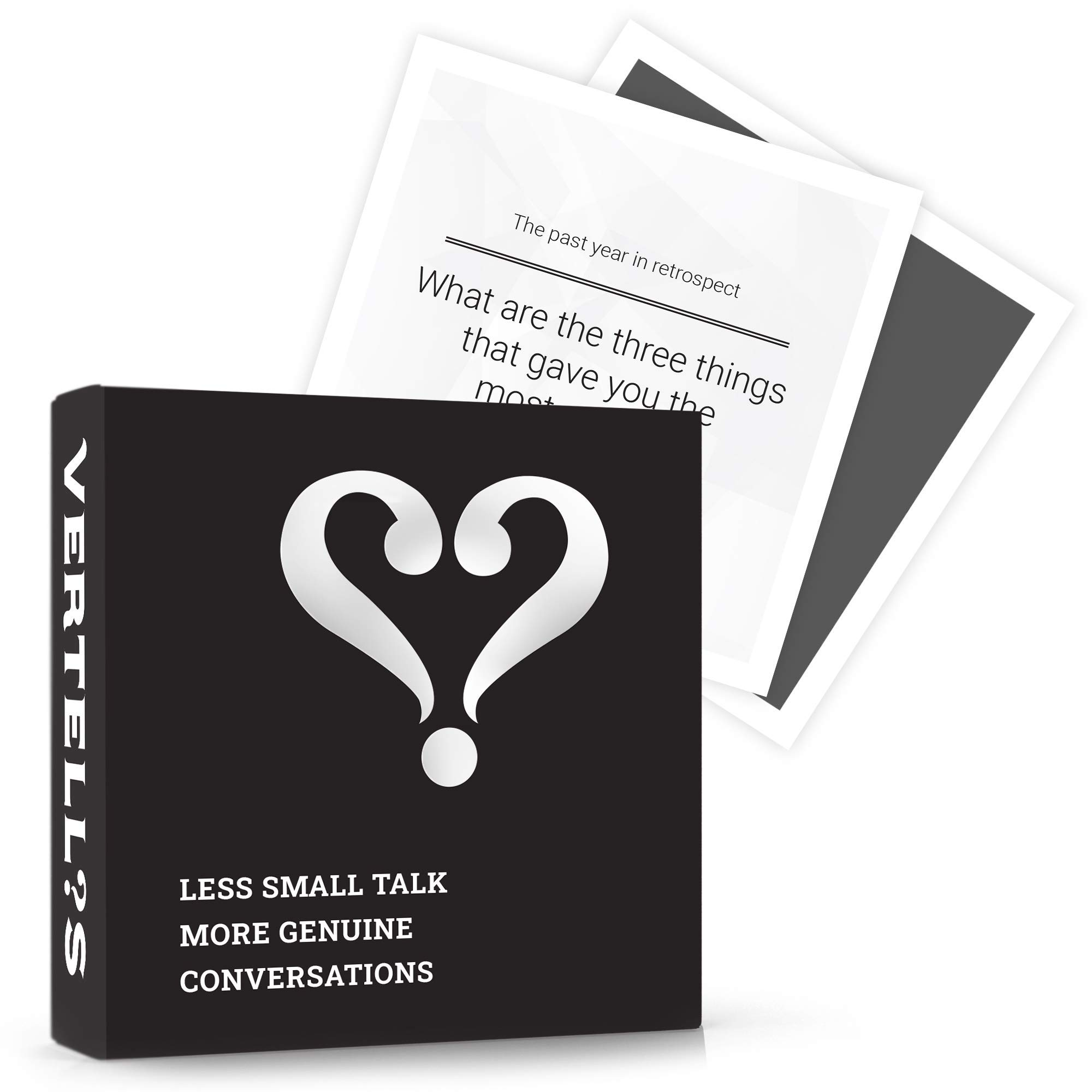 Vertellis Holiday Edition Card Game   Thoughtful Conversation Starters & Questions for Groups, Families, Friends, Office   Mindfulness & Communication Building Icebreaker Game for Parties & Gatherings