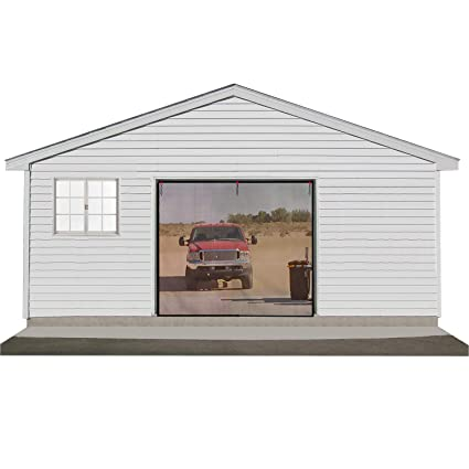 Garage Bug Curtain Screen 8x8 Ft Garage Screen Door For One Car