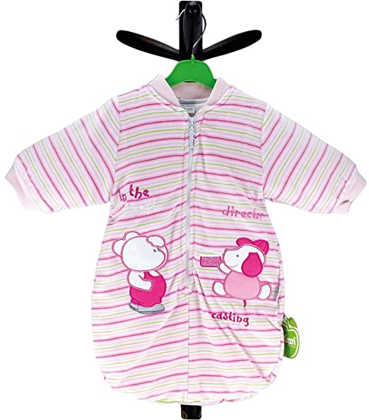 bebi niña Saco de dormir manga larga hipoalergénica agradable disponible en diferentes tamaños Marca de calidad 955pb rosa rosa Talla:68: Amazon.es: Bebé