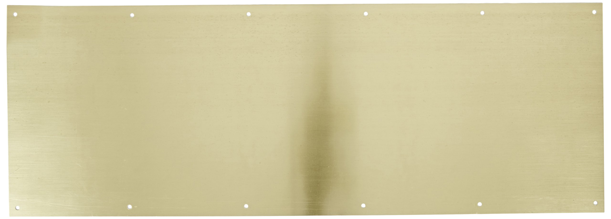 Rockwood K1050 Rectangular Kick Plate, Brass with Polished Clear Finish, 34'' Width x 8'' Height x 3/64'' Thickness by Rockwood (Image #1)