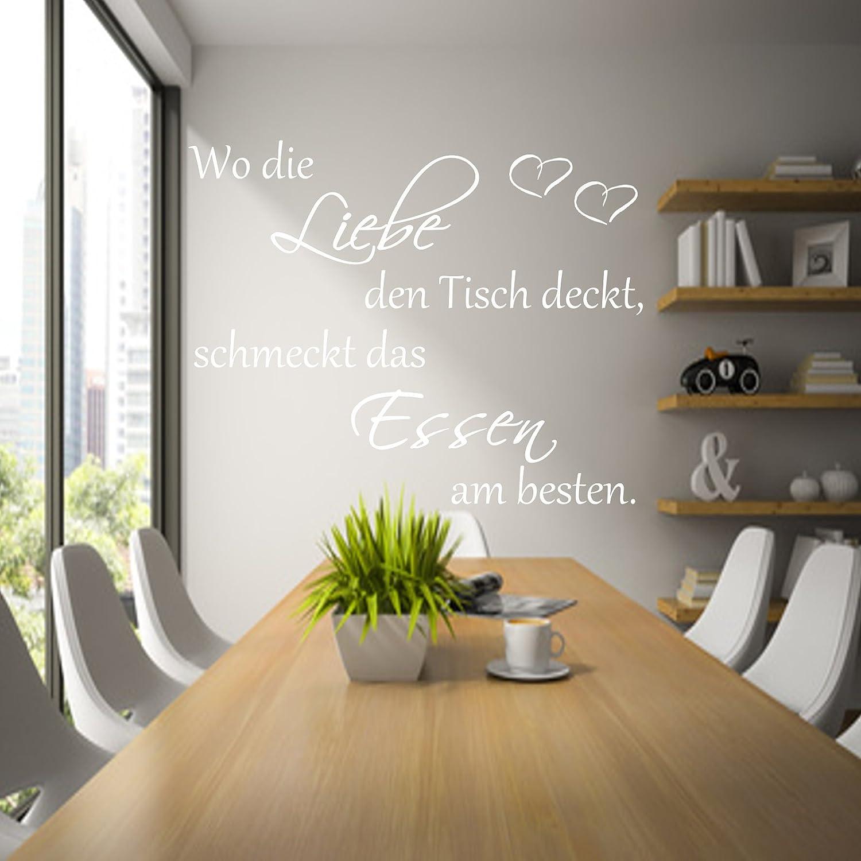 Wandtatoos für die küche  Wandtattoo AA050 Küche ~Wo die Liebe den Tisch deckt,schmeckt das ...