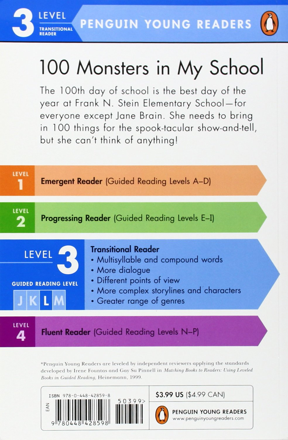 Amazon.com: 100 Monsters in My School (Penguin Young Readers, Level 3)  (9780448428598): Bonnie Bader, Bryan Hendrix: Books
