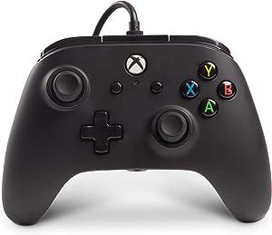 PowerA Mando con Cable con licencia oficial para Xbox One, Xbox One S, Xbox One X y Windows 10 - Negro