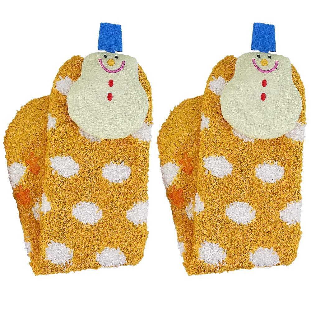 Novelty Sock,Winter Indoor Floor Slipper Socks Christmas Slipper Crew Cozzy Socks 3D Animals Christmas Tree Snowma Elk Girl Socks(
