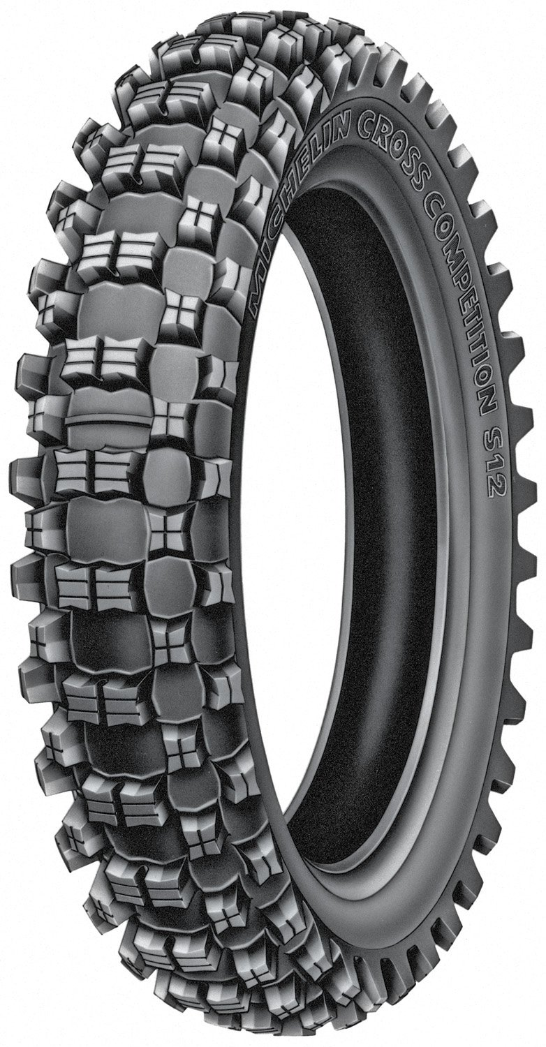 Michelin S12 XC Motocross Rear Tire - 130/80-18