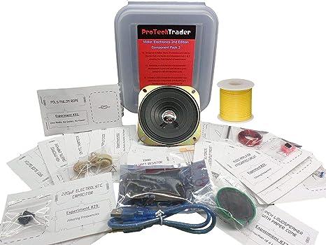 protechtrader Make: Electrónica 2 nd Edition componente Pack 3 Deluxe – Kit electrónico con Arduino
