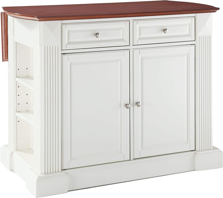 Crosley Furniture Drop Leaf Breakfast Bar Top Kitchen Island In White Finish Amazon Ca Home Kitchen