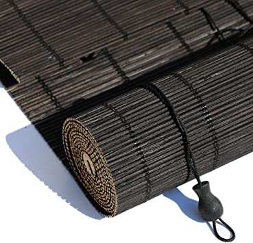 LNDDP Persianas enrollables Persianas Exteriores enrollables, Sombrilla Negra para Pergola Gazebo Deck Patio Porche Carport, 80/100/120/140 cm Ancho: Amazon.es: Deportes y aire libre