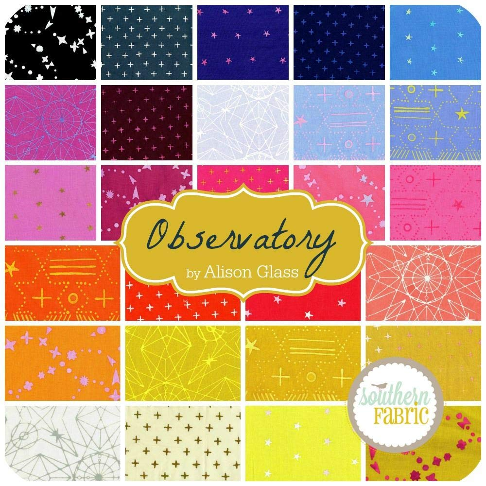 Andover Observatory Fat Eighth Bundle (27 pcs) by Alison Glass 9 x 21 inches (22.86cm x 53.34cm) Fabric cuts DIY Quilt Fabric