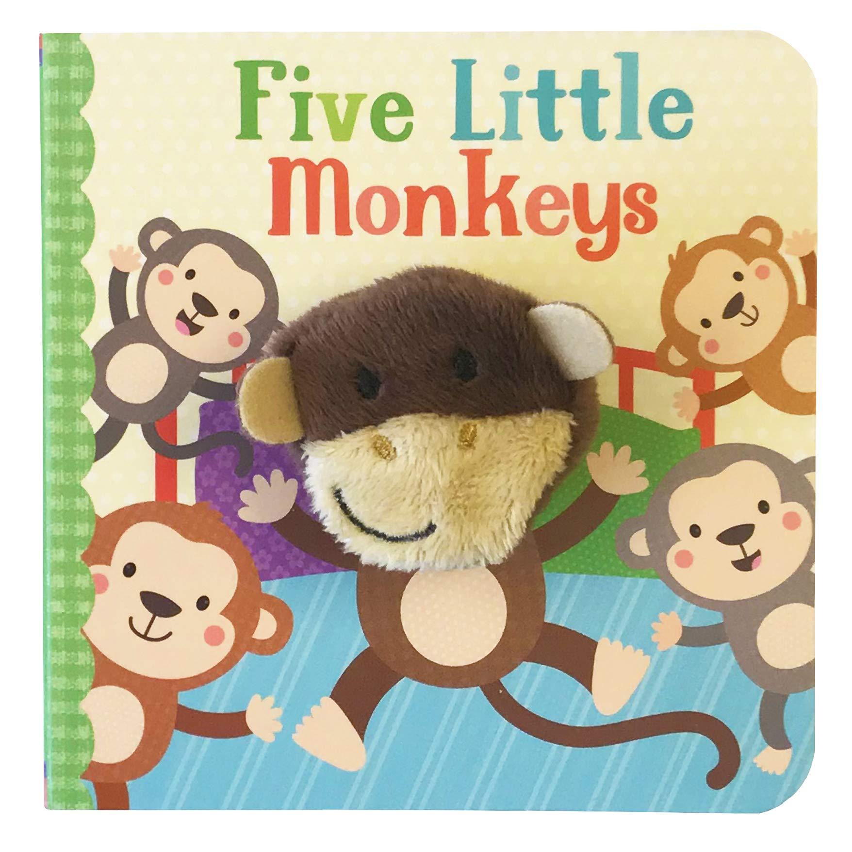 Five Little Monkeys Finger Puppet Book Board Oct 9 2018
