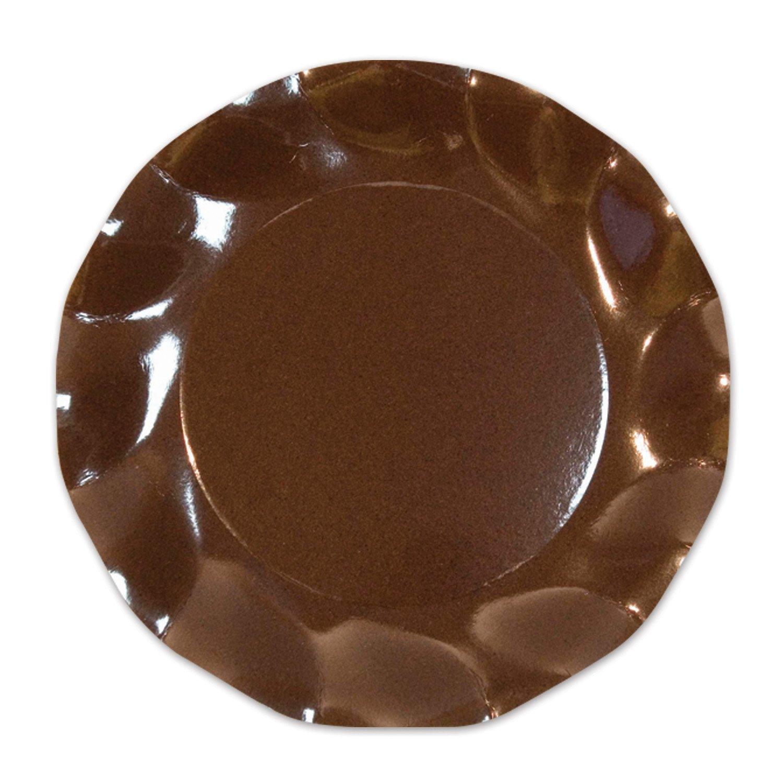 10//Pkg Brown Large Plates