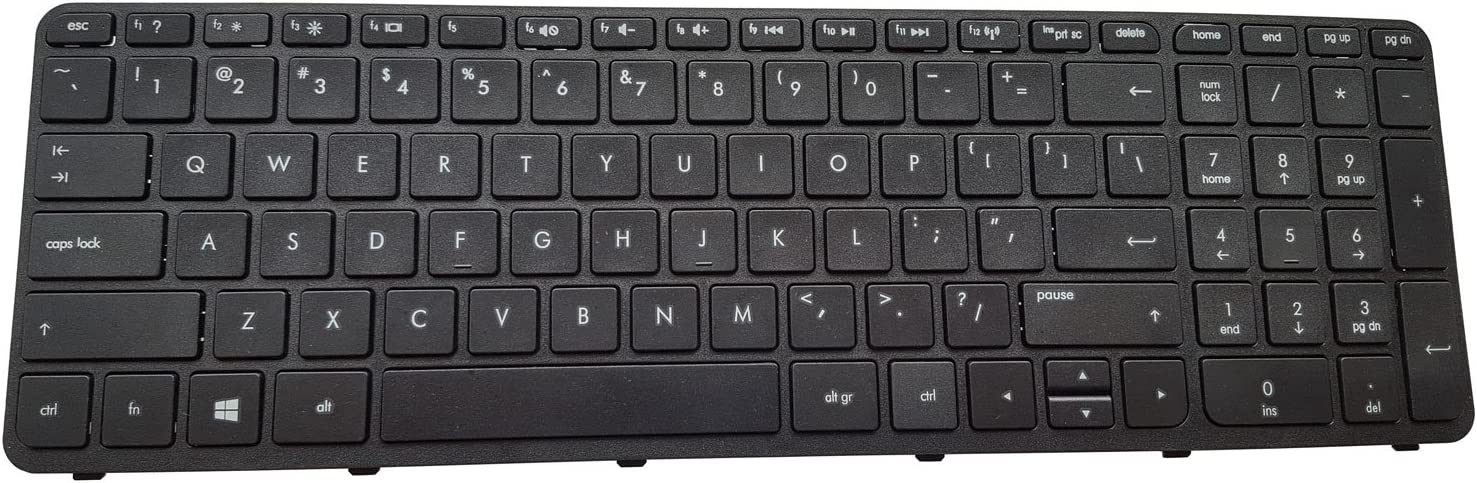 Notebook Keyboard for HP Pavilion 17-e 17-e000 17-e100 US Black keypad with Frame