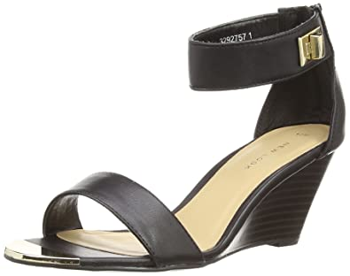 42972042b57 New Look Metal Front Ankle Strap, Women's Wedge Heels Sandals