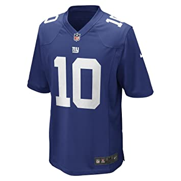 c3dd88eb5 Nike Men s New York Giants Eli Manning  10 Onfield Home Jersey Rush-Blue