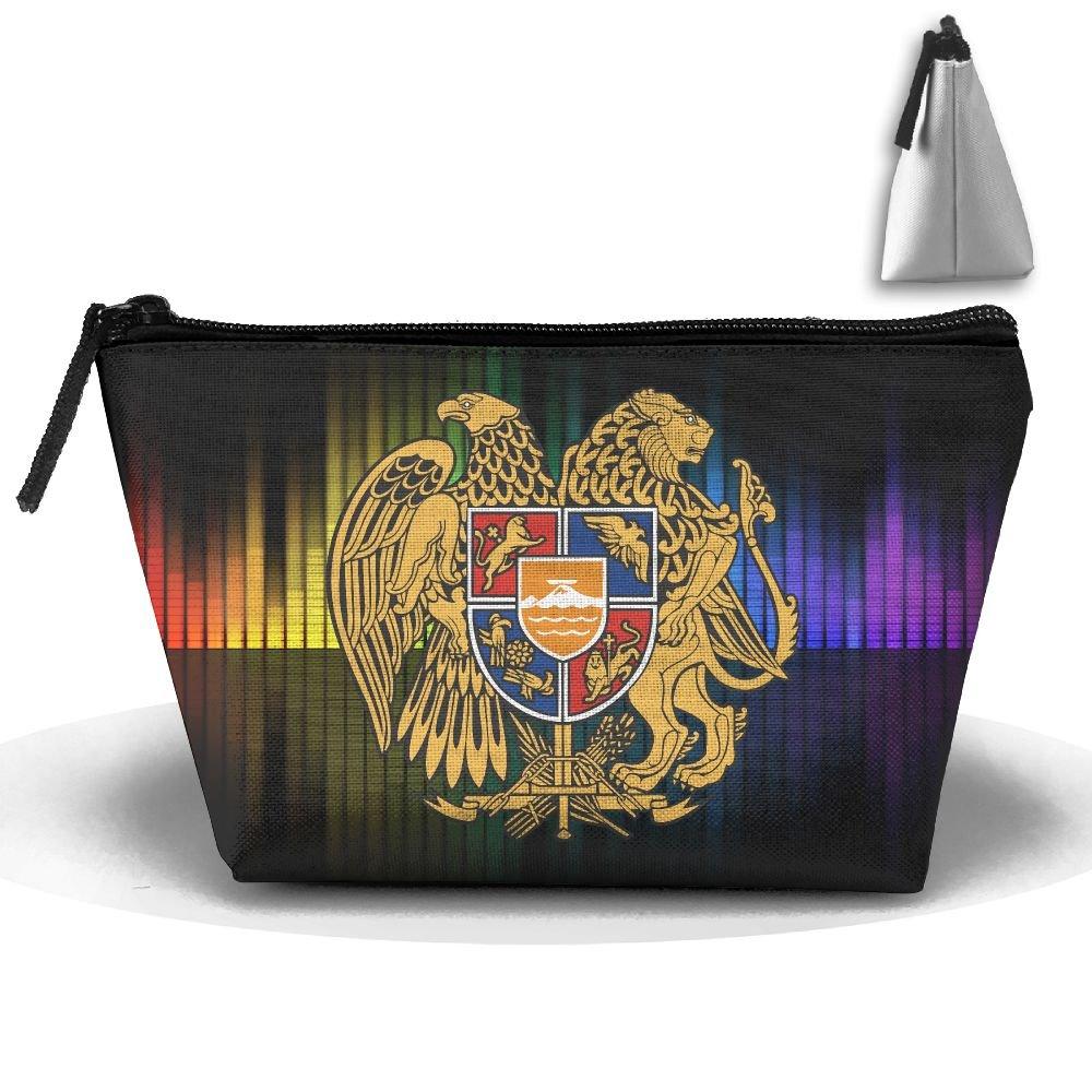 Simoner Coat Of Arms Of Armenia Abali Large Capacity Storage Bag Makeup Package Trapezoidal
