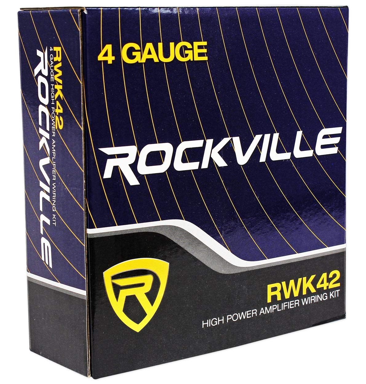 Rockville Rwk42 4 Gauge Chan Car Amp Wiring Complete 10 Awg Amplifier Wire Sub Subwoofer Kit Installation 2 Rcas Electronics