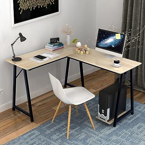 Soges Mesa ordenador Gran escritorio de esquina Moderna L(120+90 ...