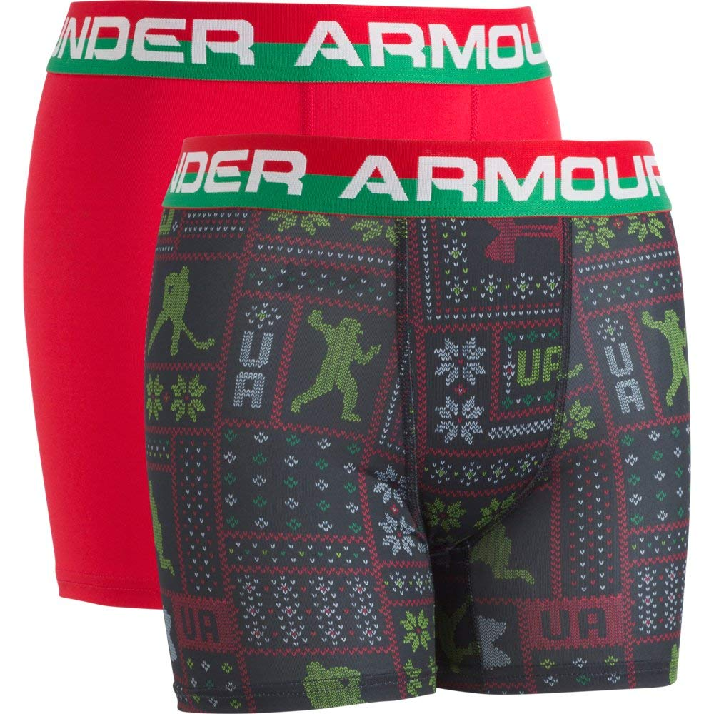 Under Armour Boys UA Original Series Holiday Sweater Boxerjock 2-Pack