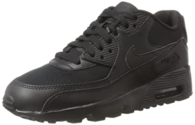 premium selection 26fea 8d73b Nike Youths Air Max 90 Mesh Black Leather Trainers 35.5 EU
