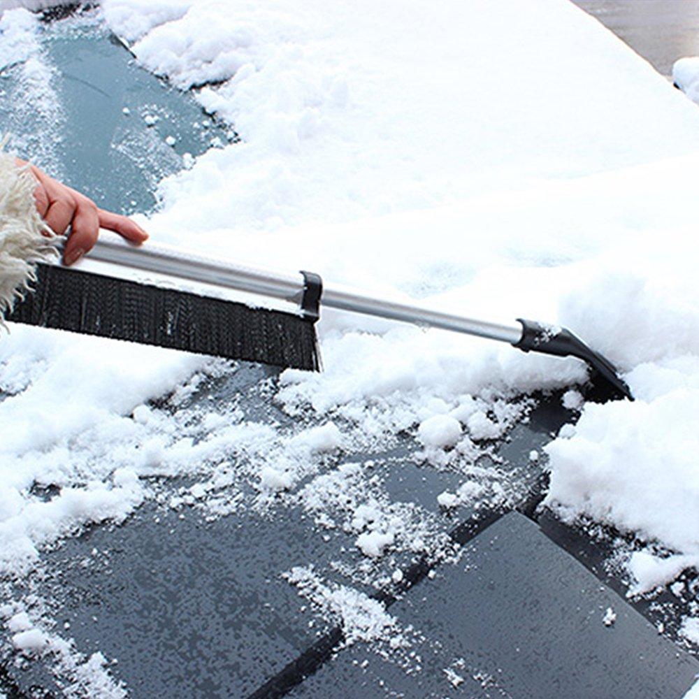 WawaAuto Teleskop Eiskratzer Schneefeger Blau 70-85cm Frostschutz Ausziehbarer Eisschaber Auto Schnee Pinsel Winter Entfernen Schnee Werkzeuge