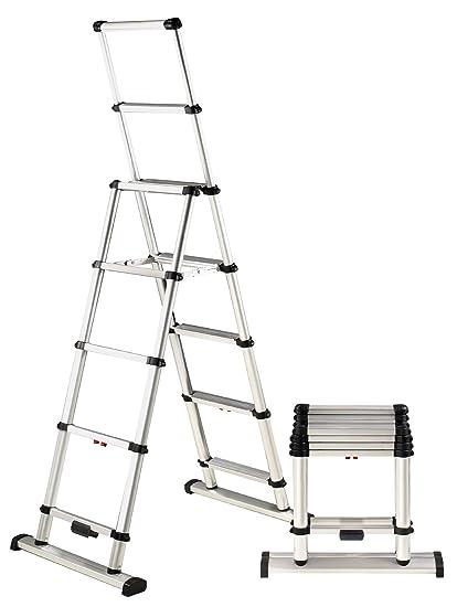 Telesteps 10ES OSHA Compliant 10 ft Reach Professional Wide Step ...