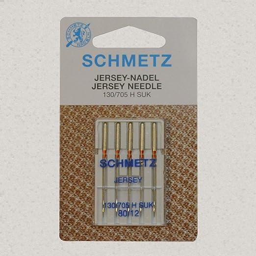 Schmetz Jersey Agujas de máquina 80/12: Amazon.es: Hogar