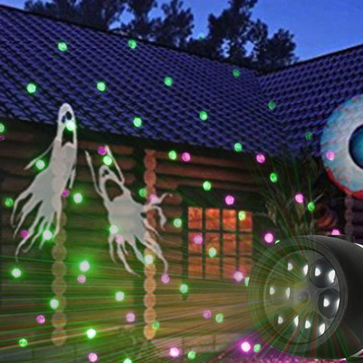 Outdoor Waterproof Snow Light, LED Christmas Projection Lamp, Film Film Card 12 Pattern Projection Lawn Lamp