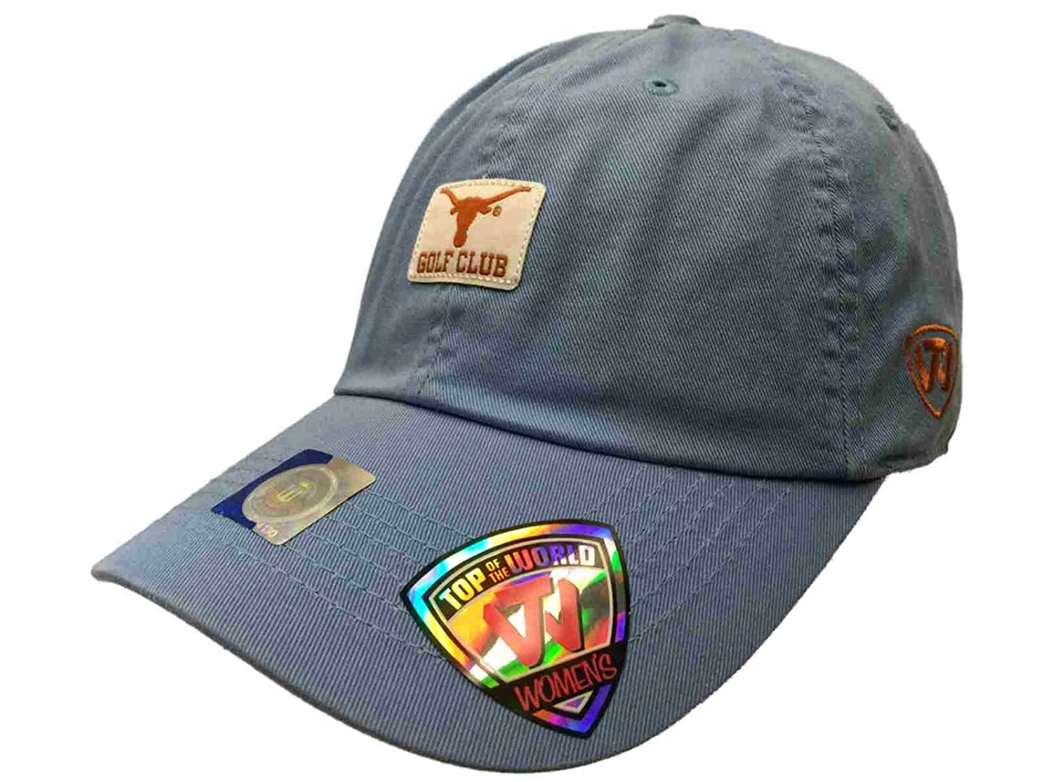 free shipping 6593a fb906 Amazon.com   Top of the World Texas Longhorns Tow Women Light Blue Lady  Luck Golf Club Adjustable Hat Cap   Sports   Outdoors