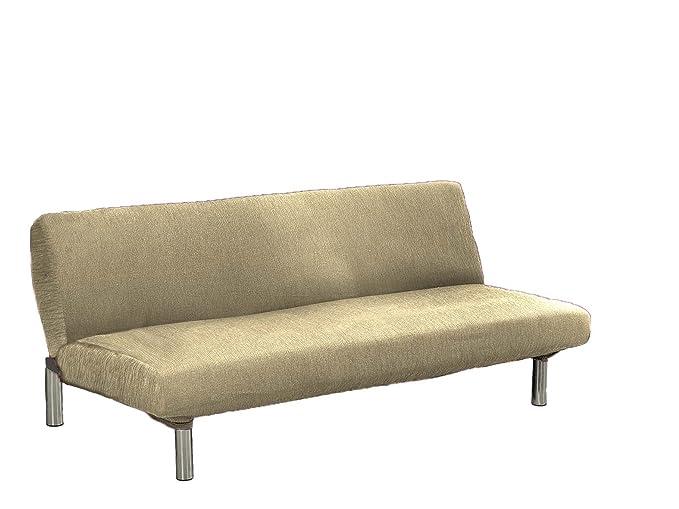 textil-home Funda de Sofá Elástica Clic-clac TEIDE, 3 plazas - Desde 180 a 240 cm. Color Beig