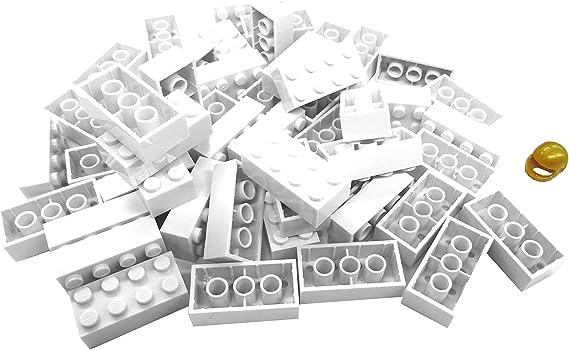 Lego Stein abgerundet 1x2x0,6 Schwarz 4 Stück 4018