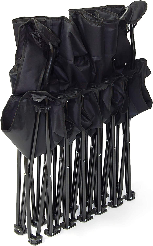 Creative Outdoor 6-Person Folding Bench Seat Chair | Portable & Collapsible | Beach Camping & Sports Team | Black : Garden & Outdoor