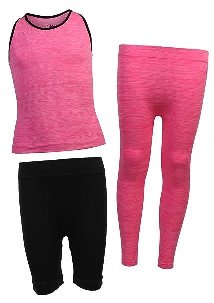 40a40ef27ce4c Amazon.com  Body Glove Girl  s 3 Piece Athletic Shorts