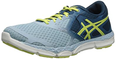 ASICS Women's 33-DFA Running Shoe, Milk Blue/Sunny Lime/Mosaic Blue