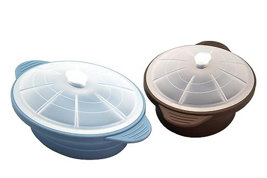Olla Microondas de Silicona, Color Azul Large: Amazon.es: Hogar