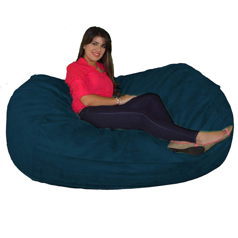 Navy bluee Cozy Sack 640-CBB-LIME Maui Beanbag Chair, 6', Lime