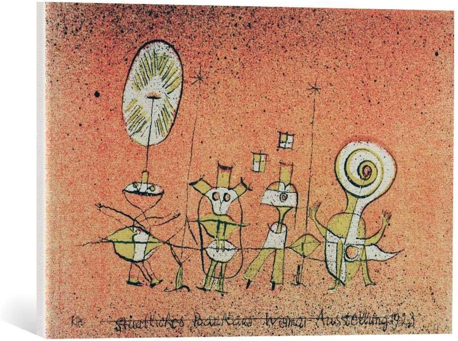 Kunst für Alle Cuadro en Lienzo: Paul Klee Die heitere Seite Weimar Bauhaus-Ausstellung 1923 Bauhaus - Impresión artística, Lienzo en Bastidor, 60x40 cm