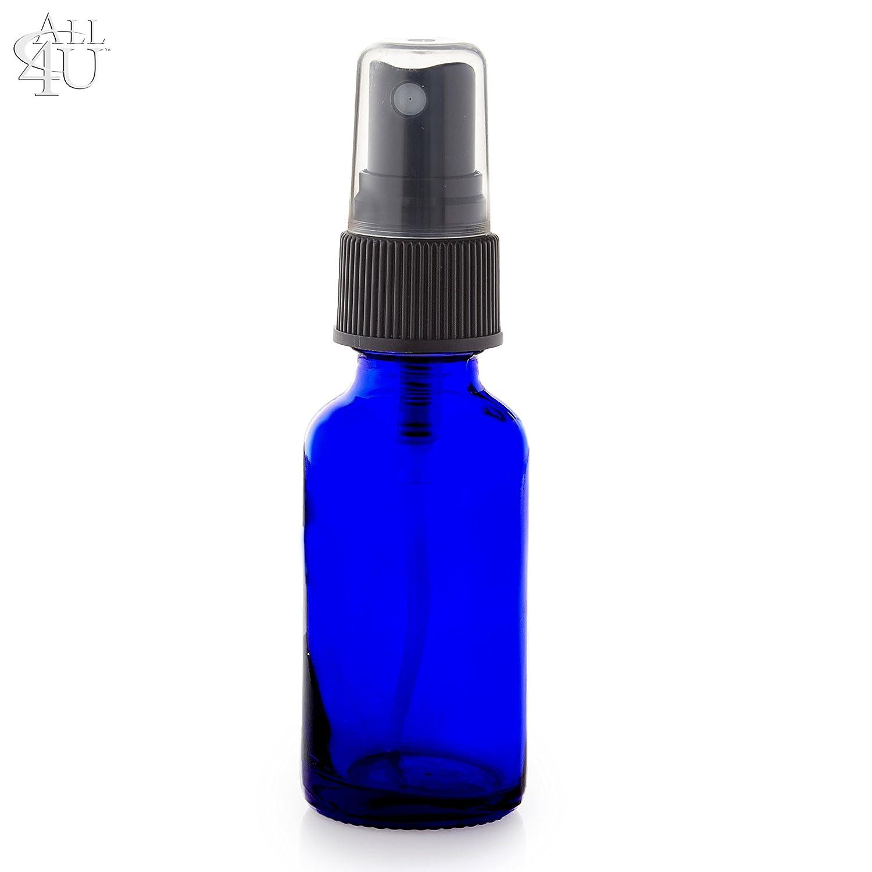 Greenhealth Pack of 12 2oz High Quality Cobalt Blue Glass Bottle with Black Fine Mist Sprayer 6 Pipettes WFMed COMINHKPR86240