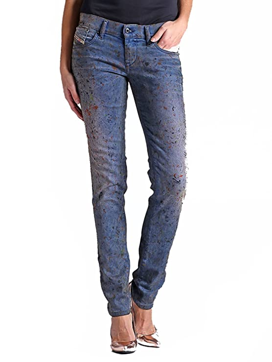 07c279b8 Amazon.com: Diesel Women's Jeans Getlegg 27Wx32L slim Skinny Denim 0821Z:  Clothing