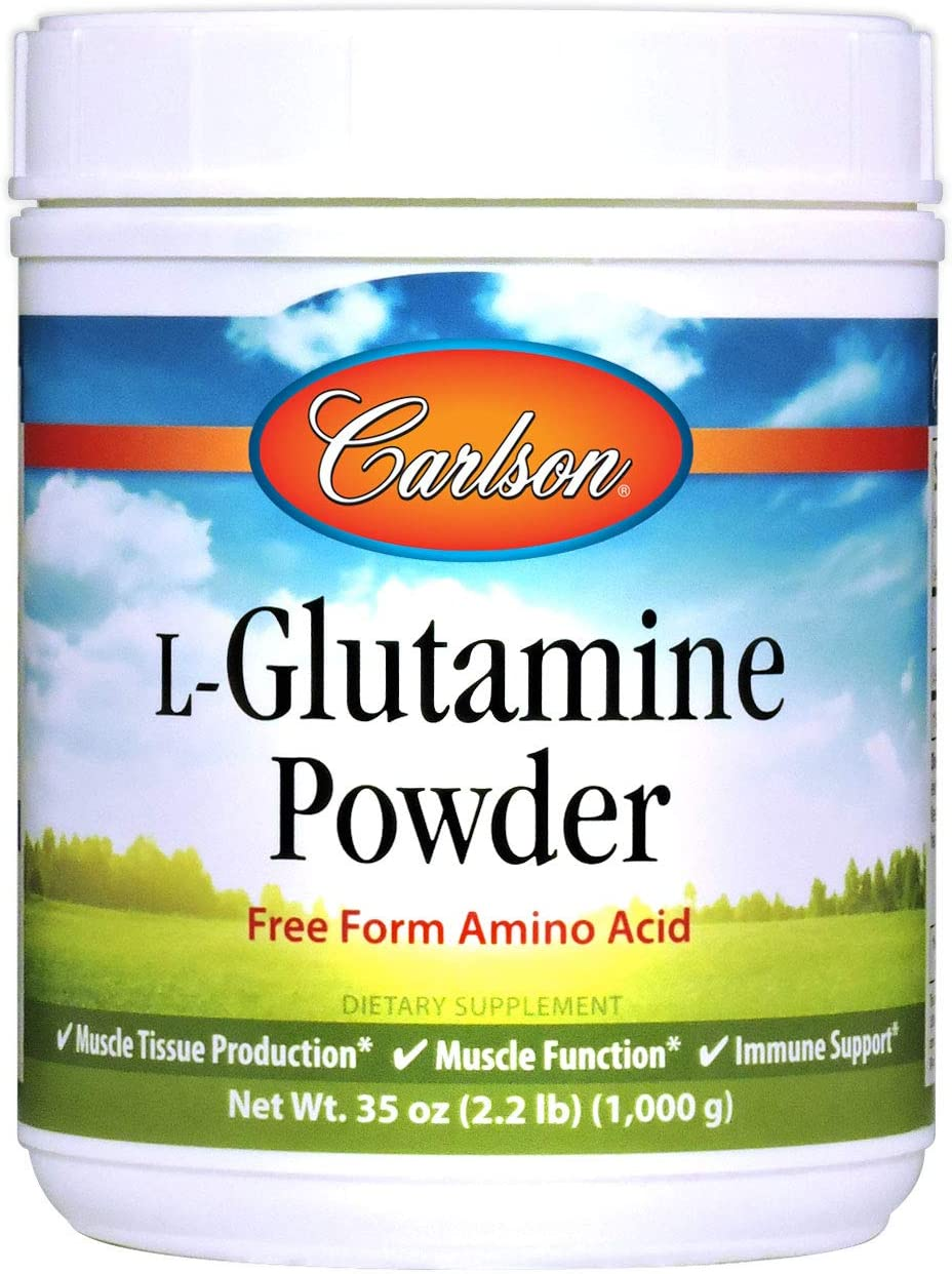 Carlson – L-Glutamine Powder, Free Form Amino Acid, Muscle Tissue Production, Muscle Function Immune Support, 35 oz 1000 grams
