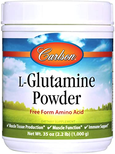 Carlson – L-Glutamine Powder, Free-Form Amino Acid, 3 g, Muscle Tissue Production Function, Immune Support, 35 oz 1000 g