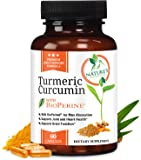 Turmeric Curcumin with Bioperine 1300mg. Highest Potency Available. Premium Pain Relief & Joint Support with 95% Curcuminoids. Non-GMO, Gluten Free Turmeric Capsules with Black Pepper - 60 Capsules