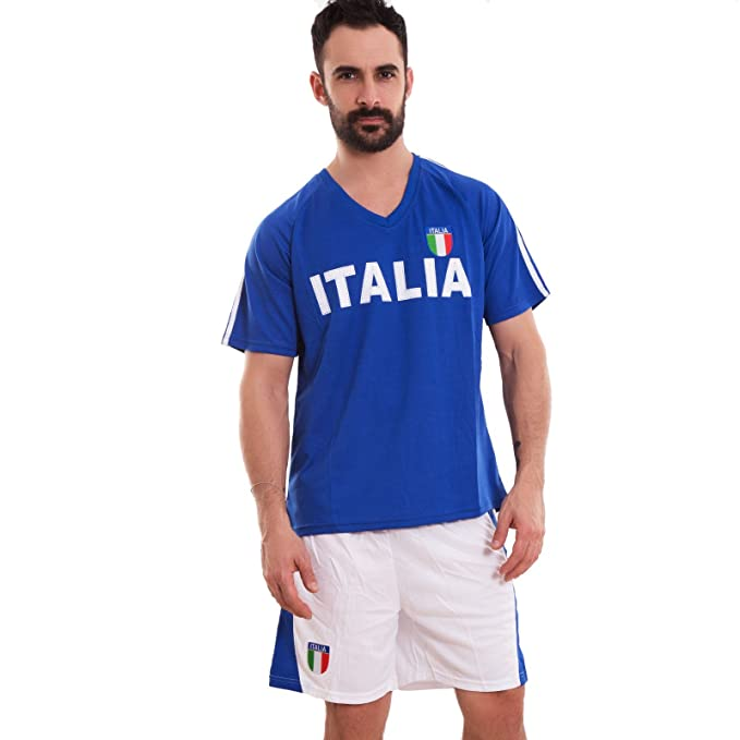 Toocool Completo Italia Hombre Camiseta Pantalones Camiseta V Shorts Sport Fútbol d-586 turquesa X