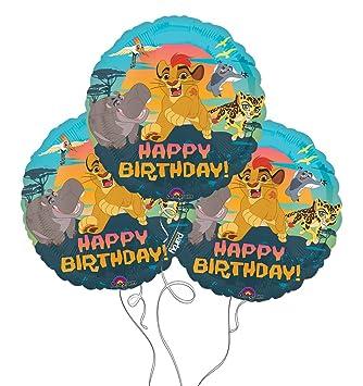 Amazon.com: Lion Guardia Disney Feliz cumpleaños Mylar ...
