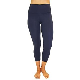 90 Degree By Reflex - High Waist Tummy Control Shapewear - Power Flex Capri Legging - Quality Guaranteed Midnight Navy XS