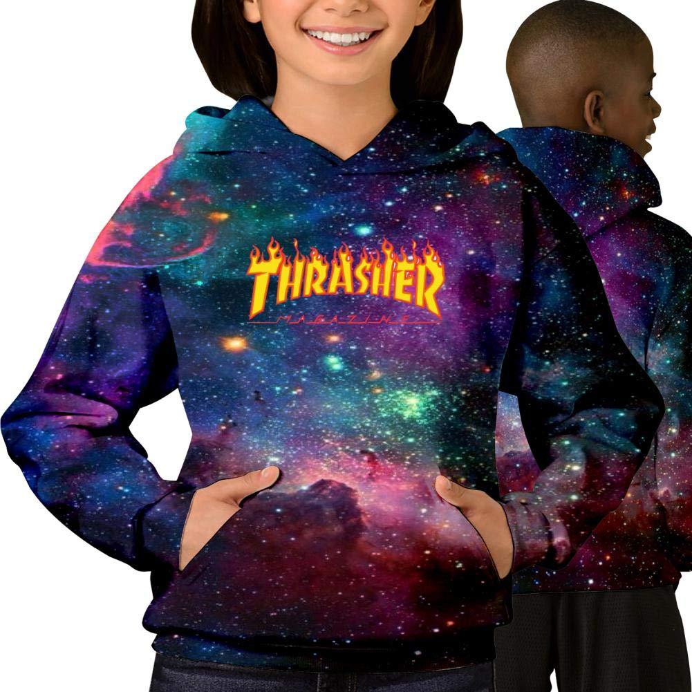 7fb14edbdba1 Amazon.com  YyyFun Youth Cotton Galaxy Pullover Hooded Pocket Sweatshirt  Th-Ra-Sher 3D Printed Hoodie  Clothing