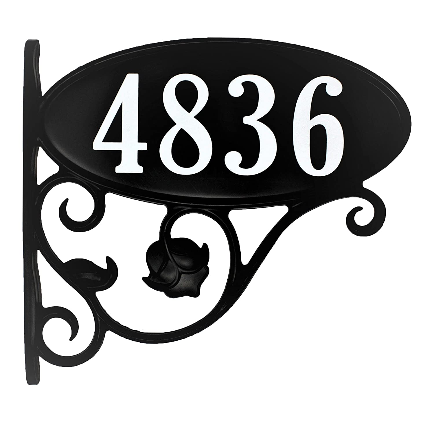 USA Hand-Crafted Custom Made Double Sided Park Place Super Reflective Mailbox Address Sign - Large 4' Easy to Read Numbers