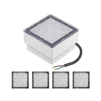 parlat LED Pflasterstein Wegeleuchte CUS 230V kalt-weiß 5 Stk. 10x10cm