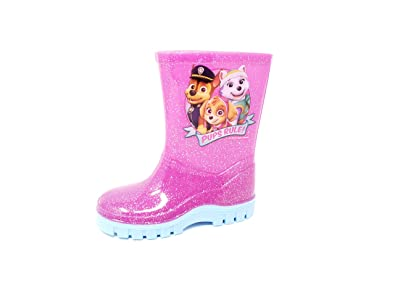 57c0b7dbdb Nickelodeon Licensed Paw Patrol Childrens Kids Wellington Boots Rain ...