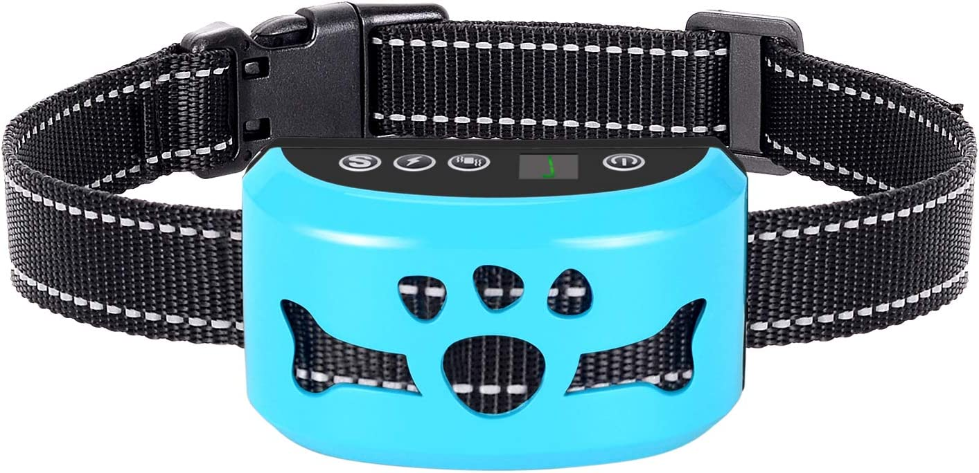 AHJDL Bark Collar Newest Upgrade Version No Bark Collar Rechargeable Anti bark Collar with Beep Vibration and No Harm Shock Smart Detection Module Bark Collar for Small Medium Large Dog