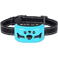 AHJDL Bark Collar Newest Upgrade Version No Bark Collar Rechargeable Anti bark Collar with Beep Vibration and No Harm Shock Smart Detection Module Bark Collar for Small Medium Large Dog